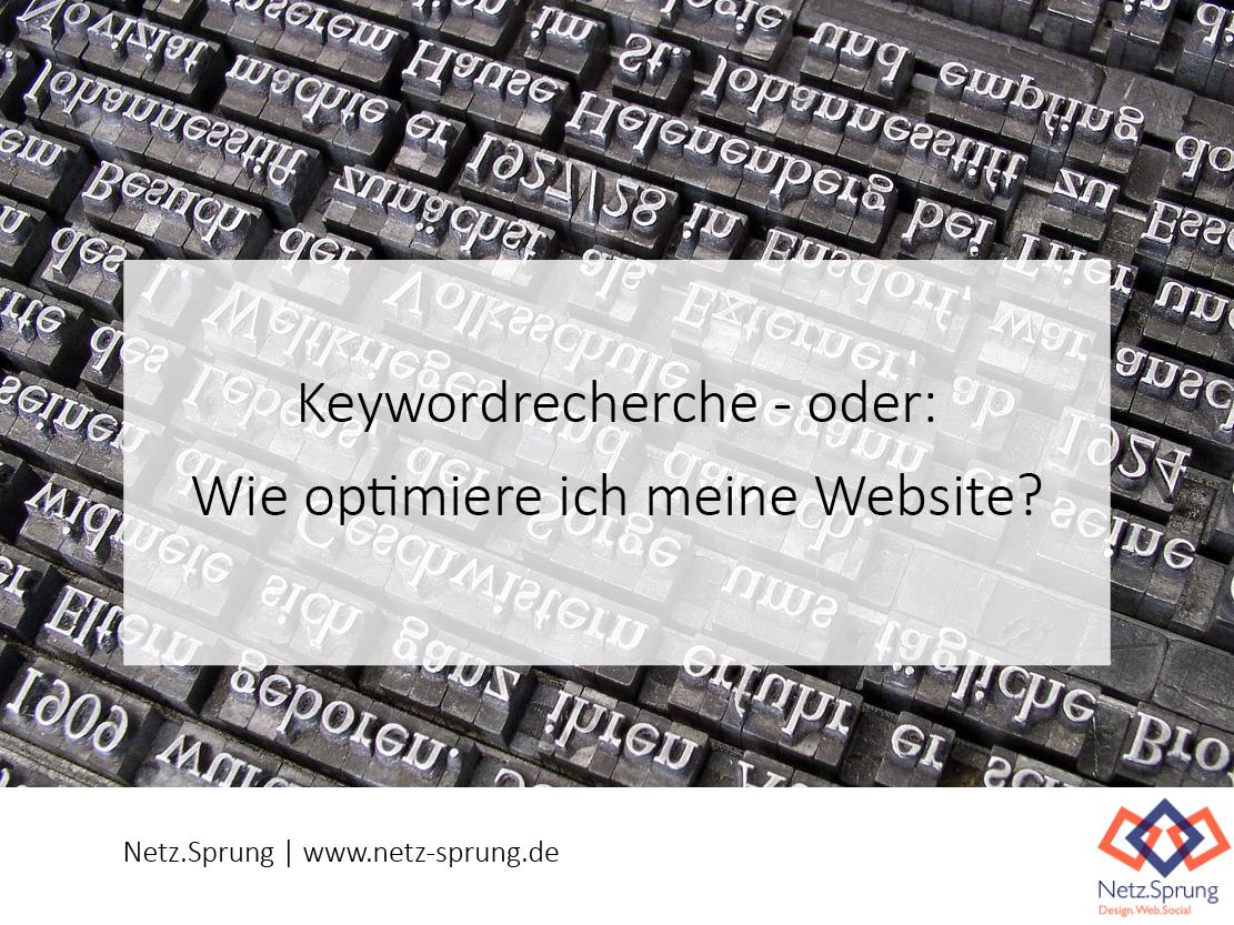 Keywordrecherche: Wie optimiere ich meine Website?